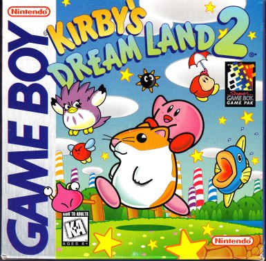 Game Boy Kirby's Dream Land 2 Front Cover