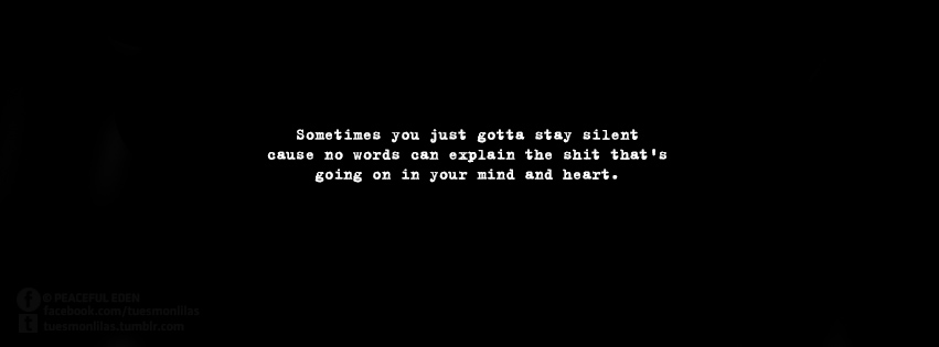 Sometimes You Got To Stay Silent Quote