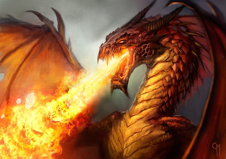 Red Firey Dragon