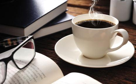A Cup of Coffee and Books