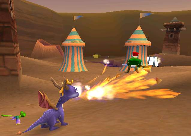 Spyro the Dragon PS1 Peace Keepers World