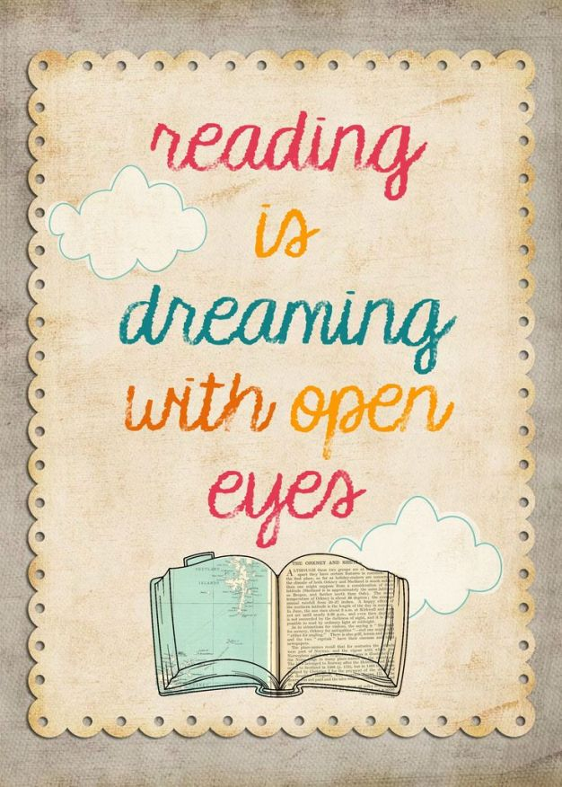 Reading Is Dreaming With Open Eyes Image