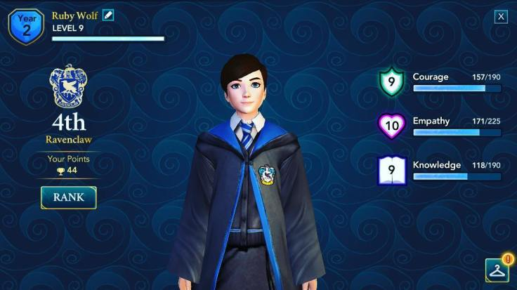 Harry Potter Hogwarts Mystery My Character Attributes
