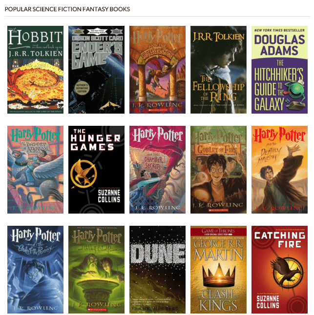 Popular fantasy book series for adults well understand