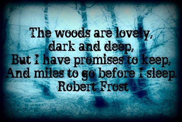 Robert Frost Poem Image