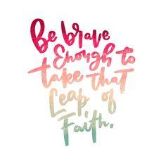 Brave Leap of Faith